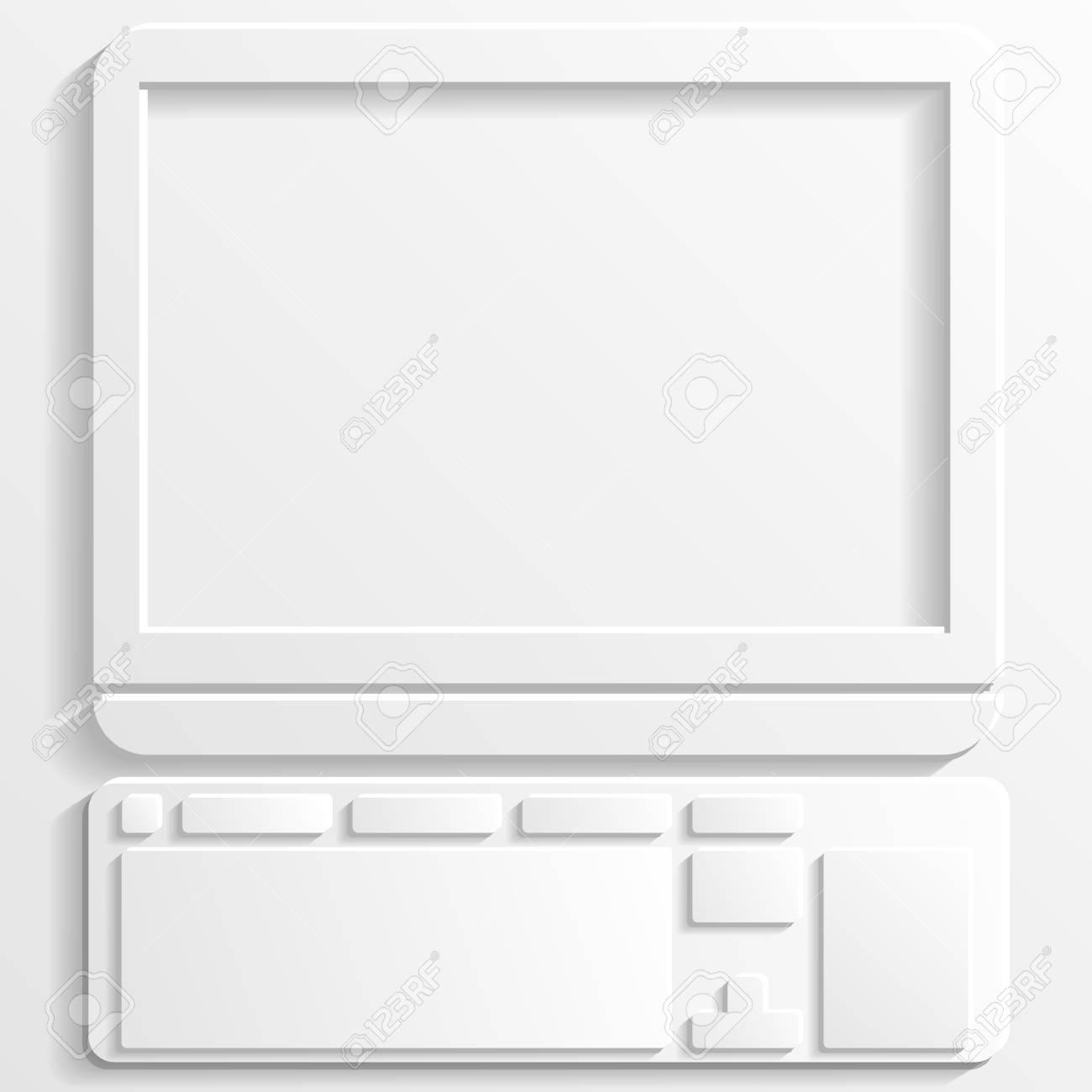 computer icon Stock Vector - 22243526