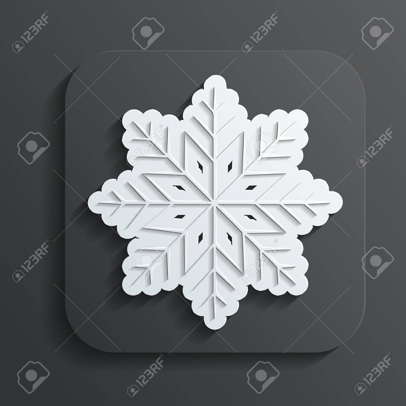 icon snowflake vector Stock Vector - 22526836