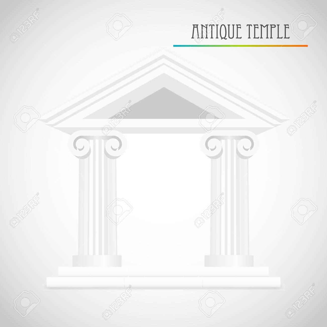 ancient columns vector Stock Vector - 22806712