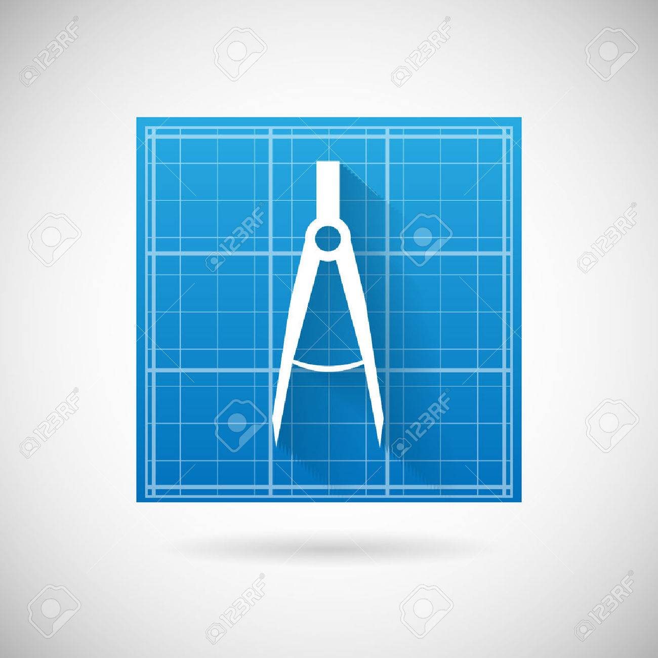 Engineering planning symbol blueprint and compass divider icon engineering planning symbol blueprint and compass divider icon design template vector illustration stock vector 27903759 malvernweather Images
