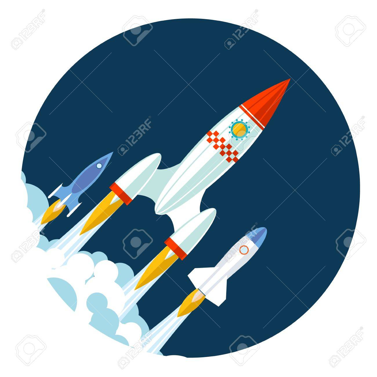 Rocket Icons Start Up And Launch Symbol Innovation Development ...