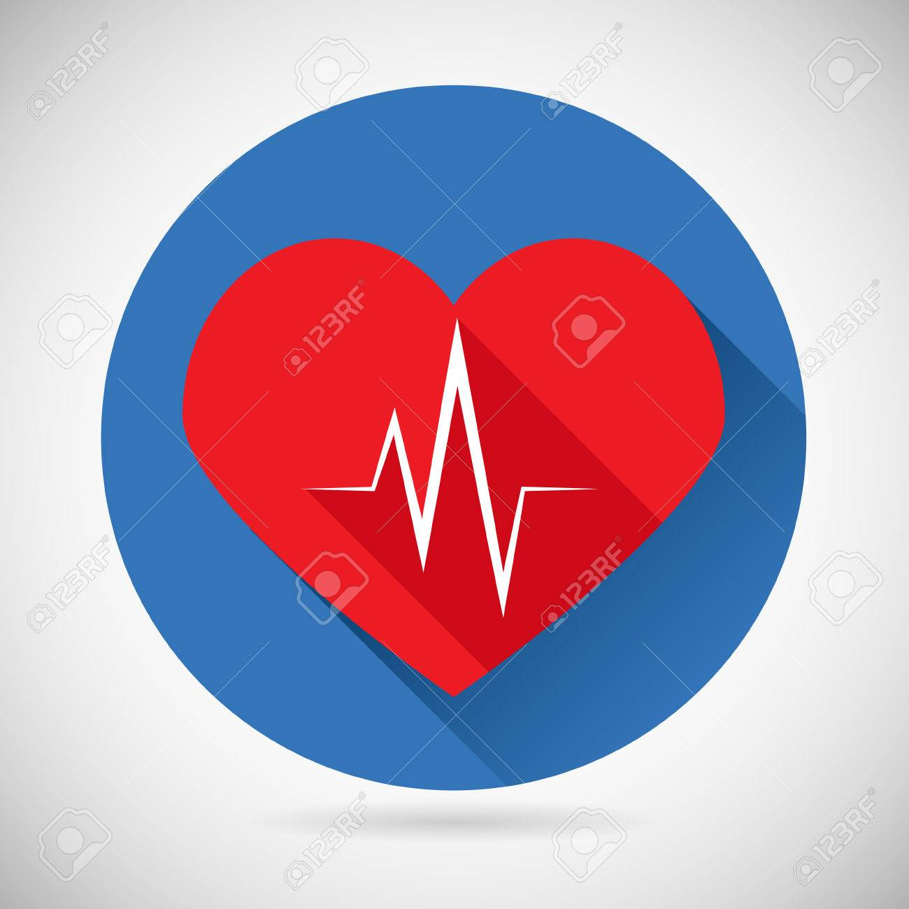 Healthcare And Medical Care Symbol Heart Beat Rate Icon Design – Heart Rate Chart Template
