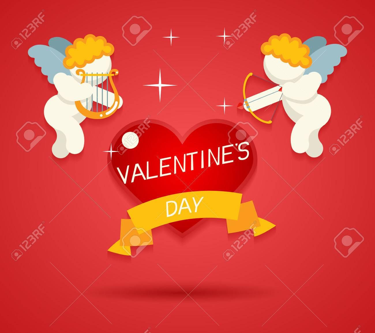 Día De San Valentín Plantilla De La Tarjeta De Felicitación Del ...