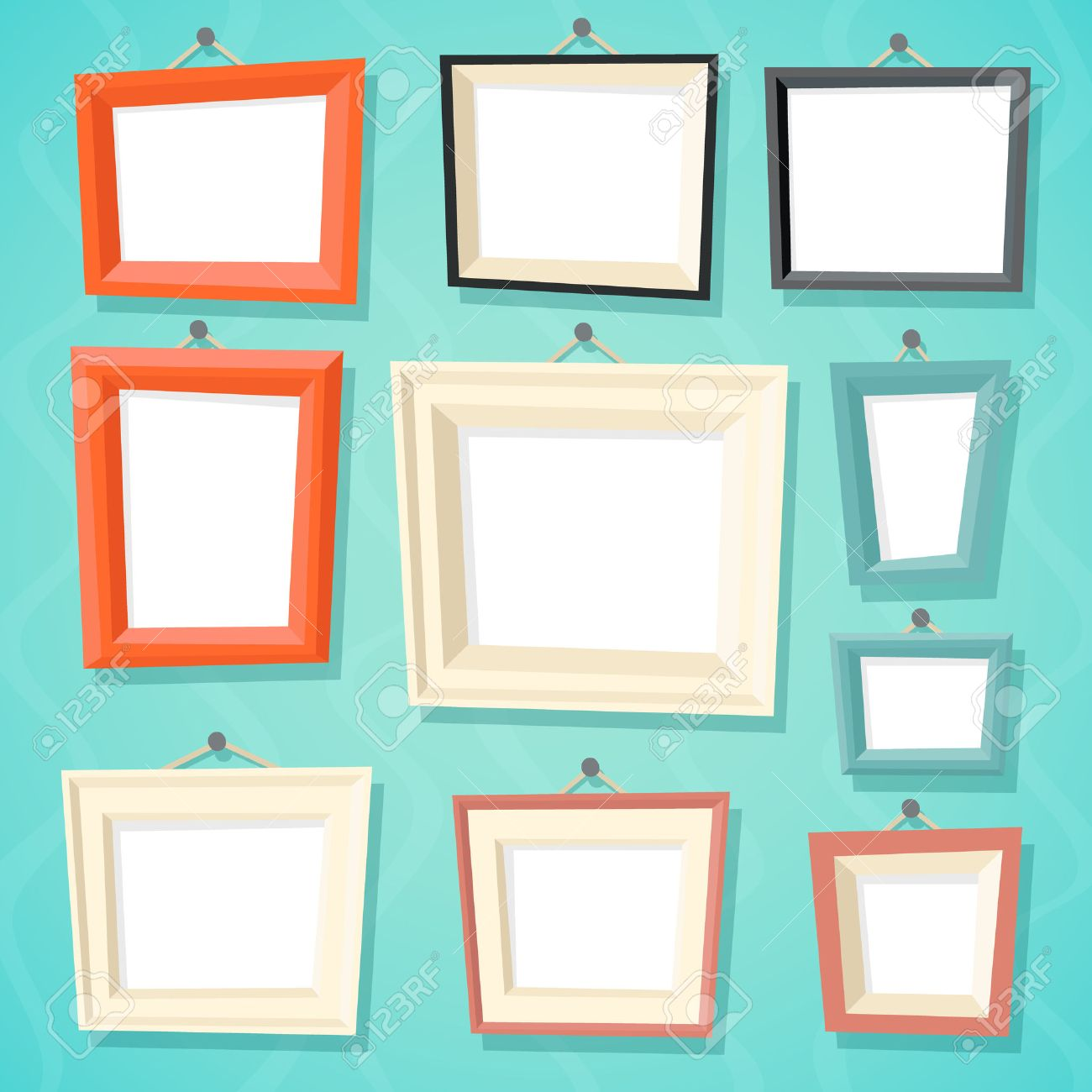 Vintage Cartoon Photo Picture Painting Drawing Frame Template ...