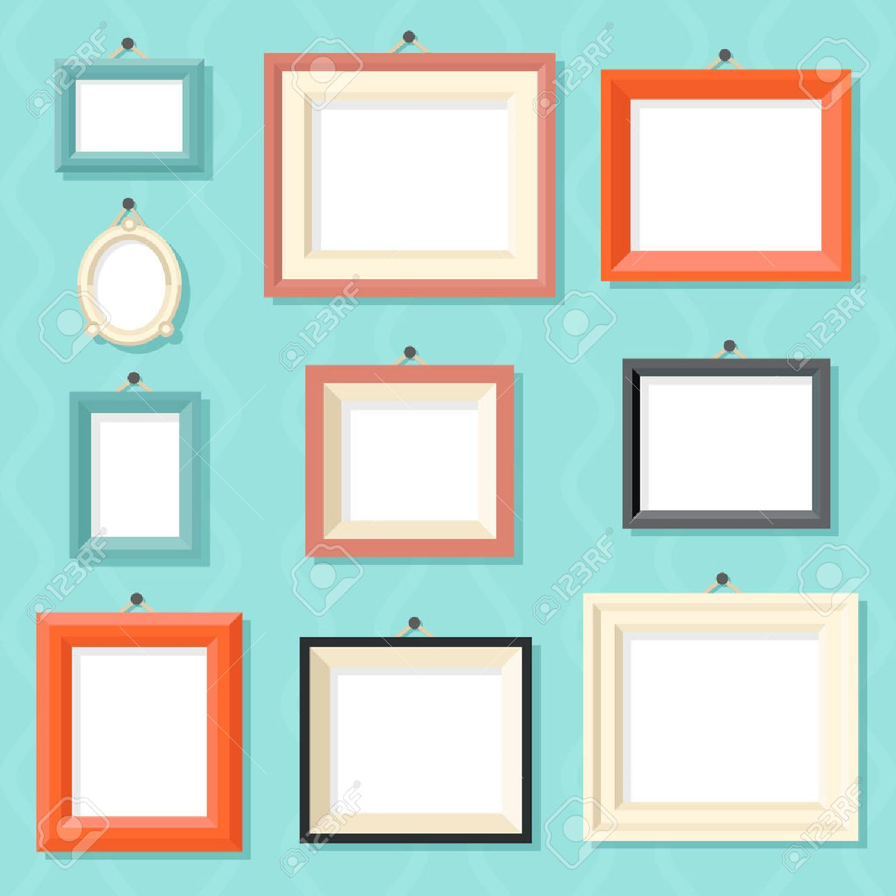 Vintage Cartoon Photo Picture Painting Drawing Frame Template