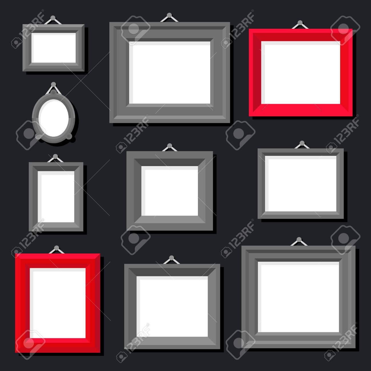 Marco Libro Blanco De La Foto De La Pintura Del Arte Del Fondo ...
