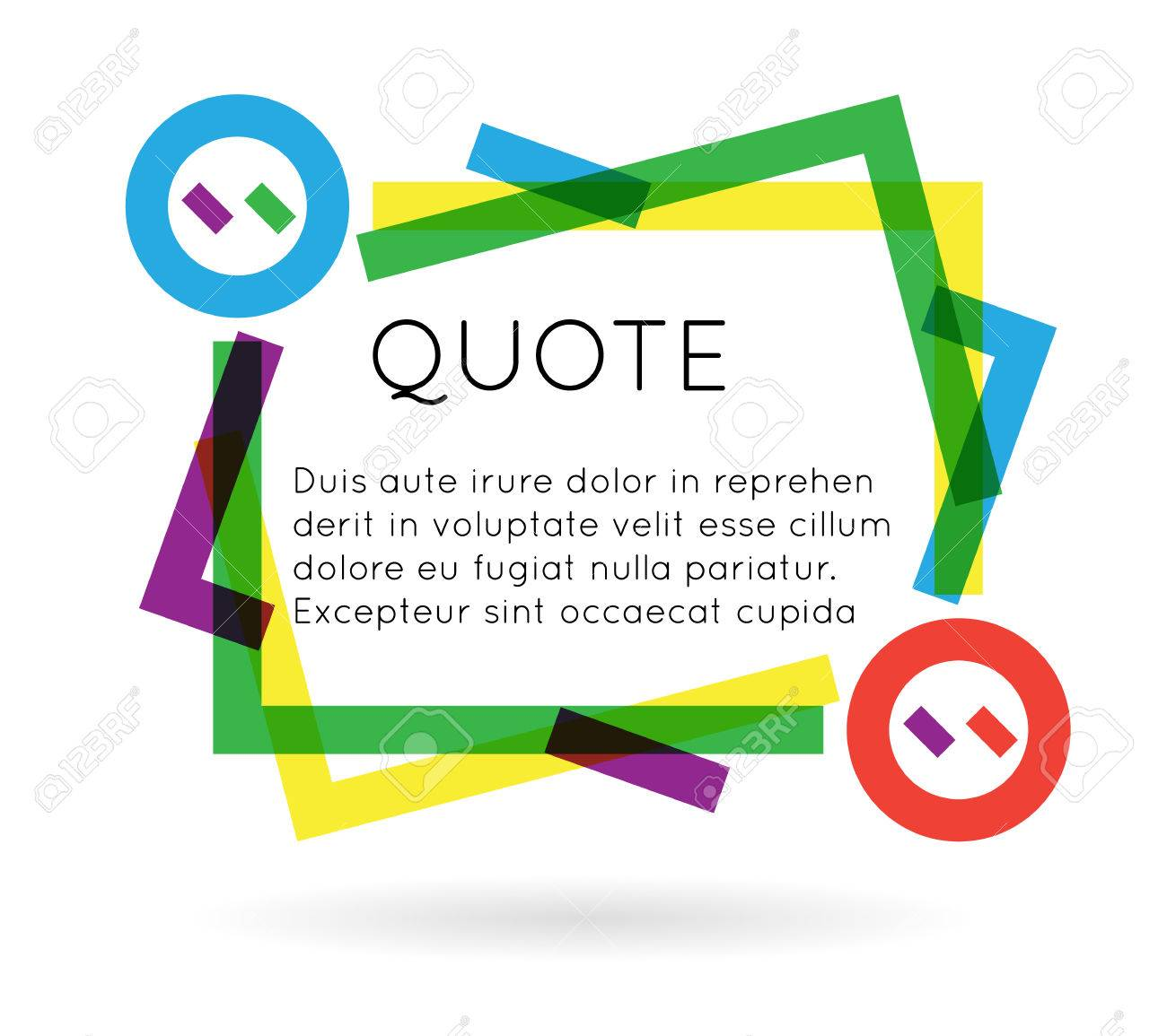 Quote template colorful information text blog business mobile quote template colorful information text blog business mobile isolated white background vector illustration stock vector accmission Image collections