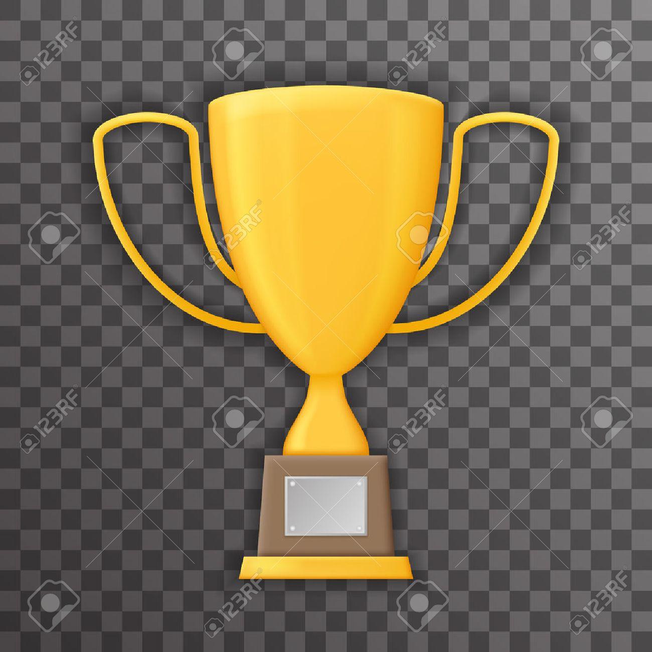 Victory Prize Award Realistic Symbol Transparent Background Trophy
