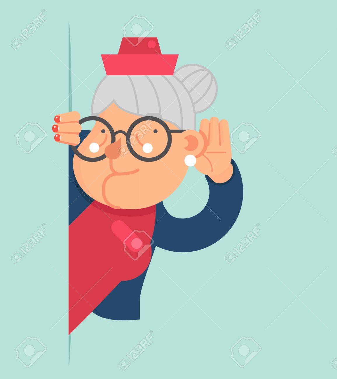 老婦人のゴシップ聞く小耳に挟むし、コーナー アダルト漫画キャラ