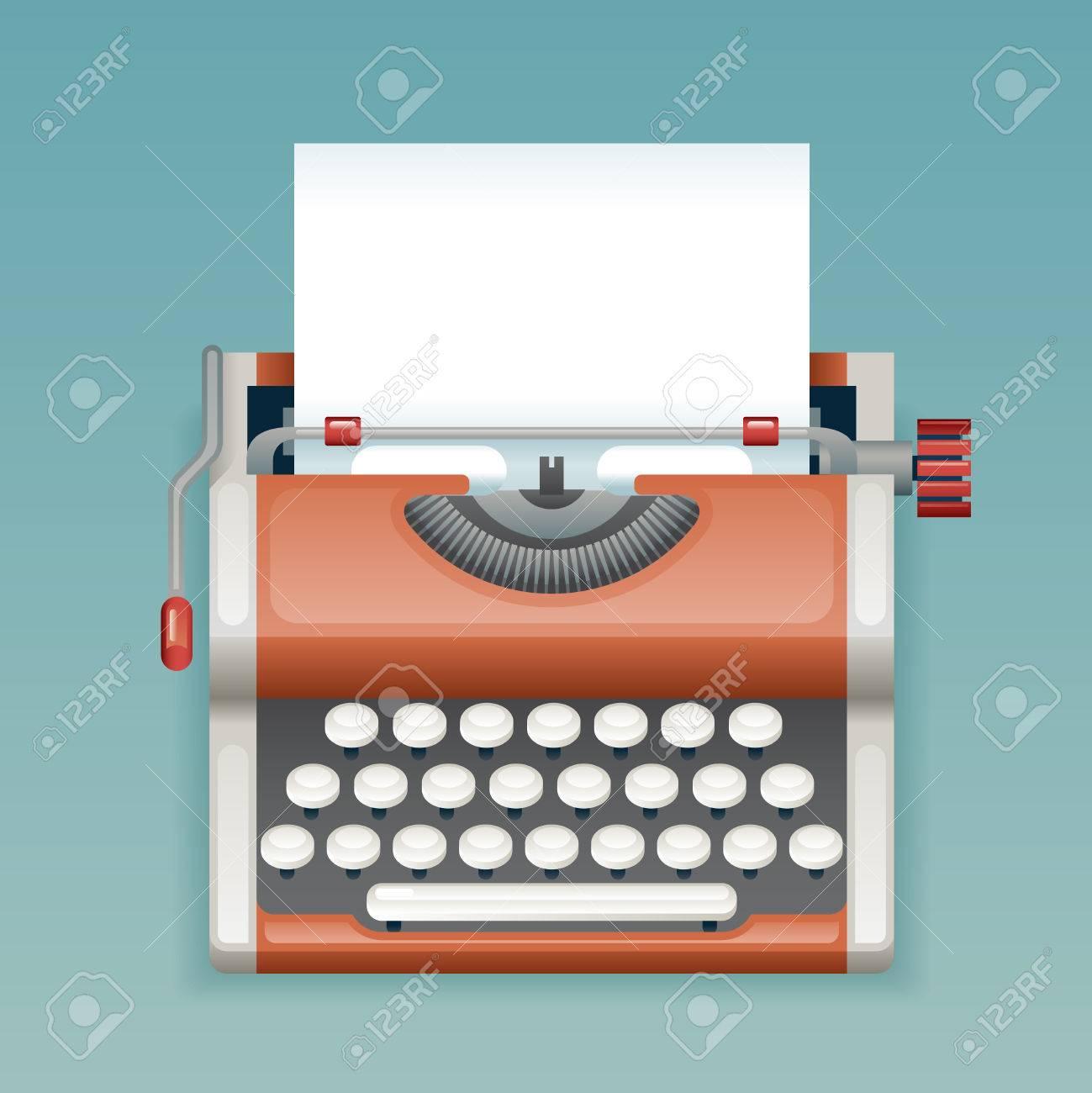 Retro Vintage Máquina De Escribir Manual Papel En Blanco Hoja ...