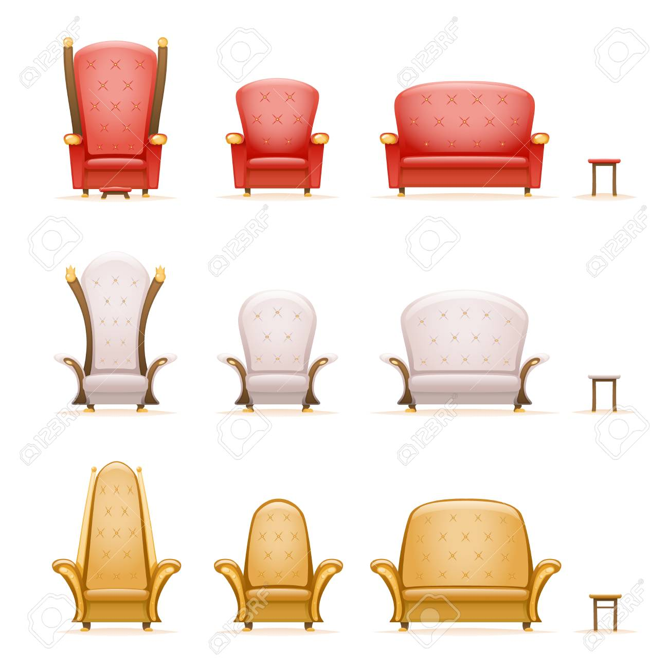 Superb Armchair Throne Sofa Couch Chair Fairytale Cartoon 3D Isolated Gmtry Best Dining Table And Chair Ideas Images Gmtryco