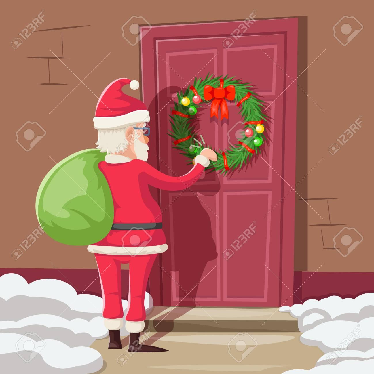 Claus Porto Nederland.Santa Claus Gift Bag Knock Christmas New Year Decoration Door