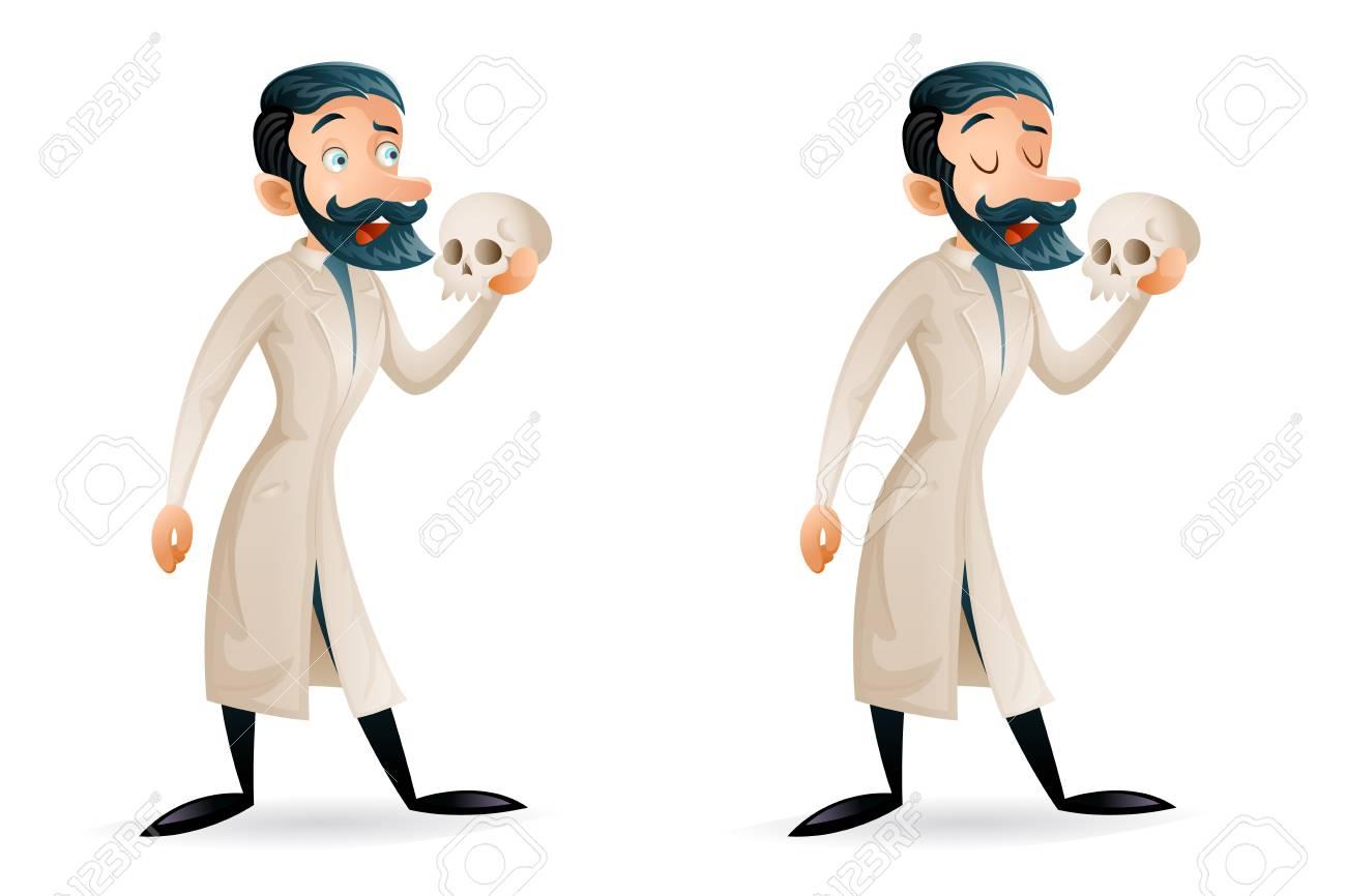 Profesor Médico Conferencia Anatomía Educación. Doctor Sosteniendo ...