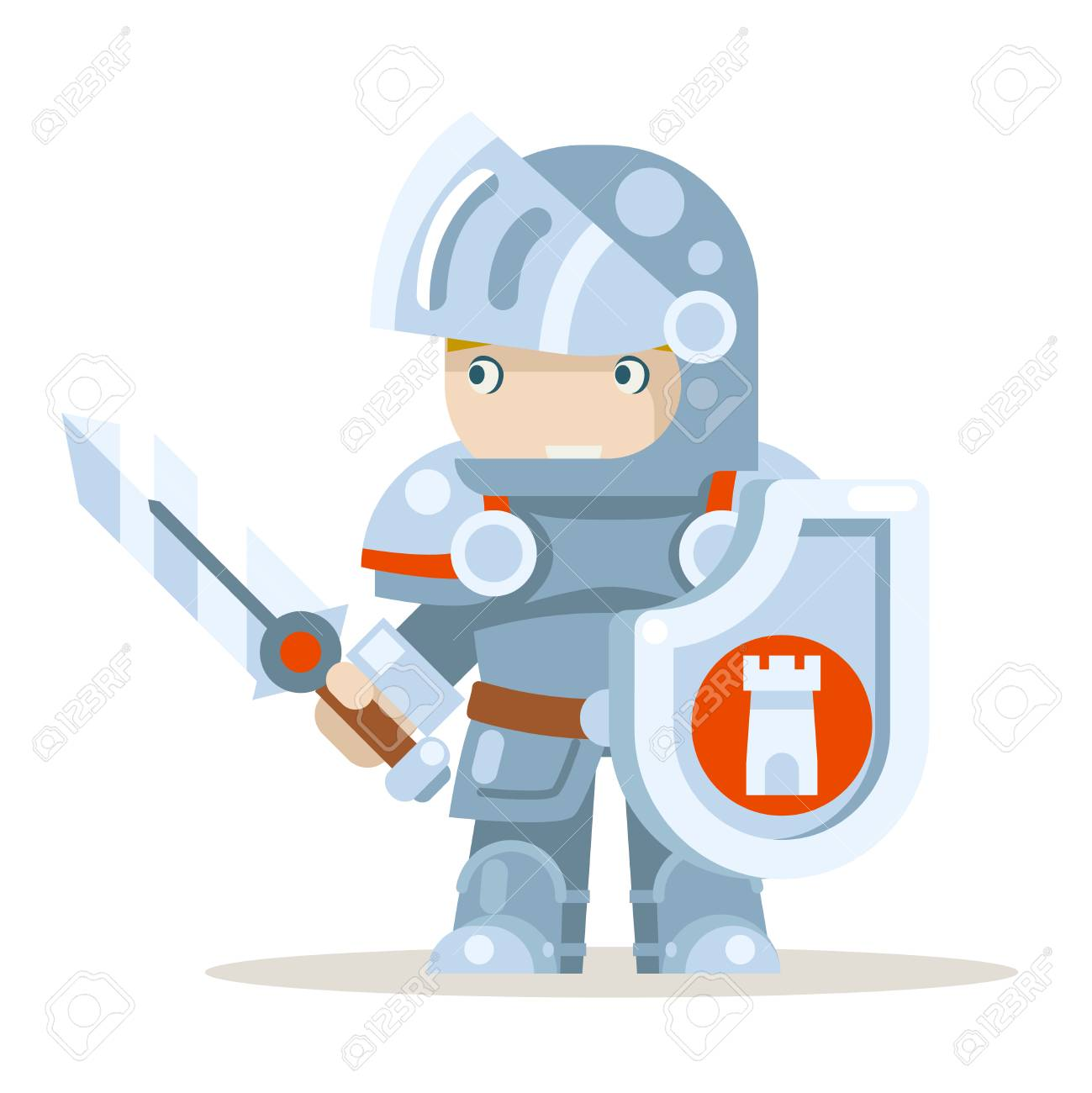 Knight warrior fantasy medieval action RPG game layered animation