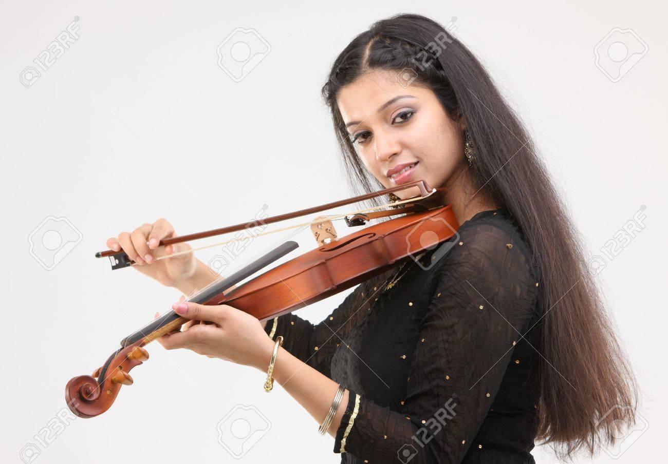 sexy girl playing violin