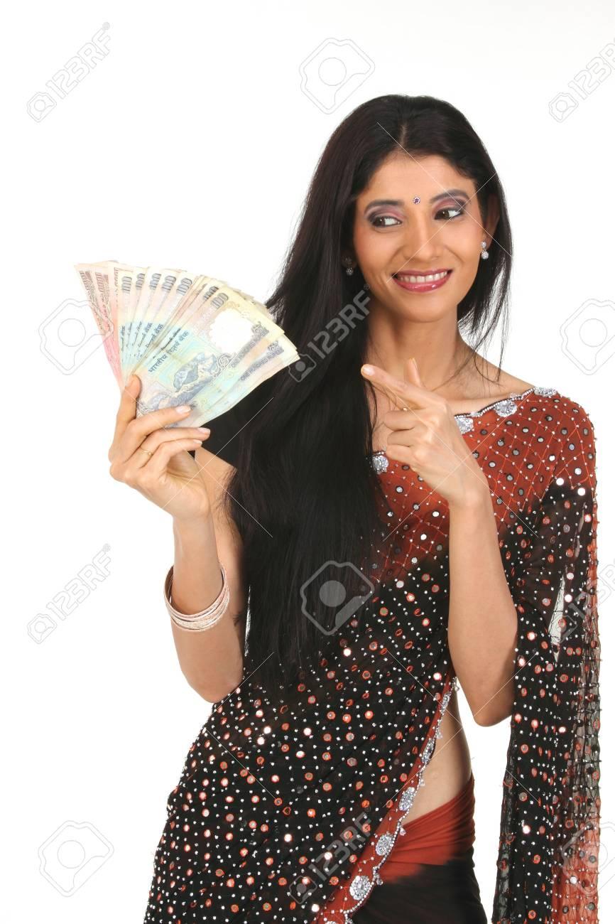 Dinero de explotación de joven  Foto de archivo - 6172973