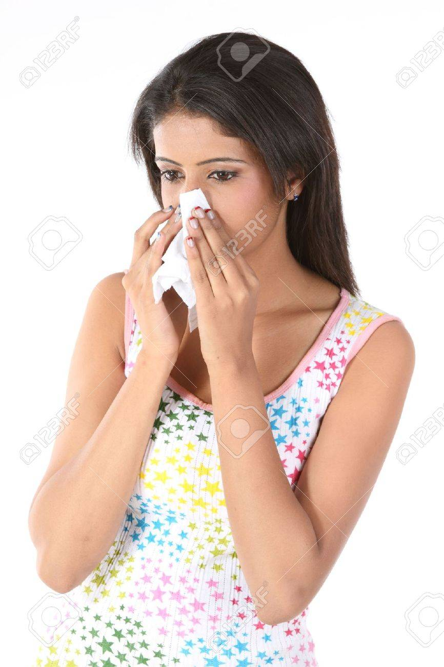 Beautiful girl with severe cold Stock Photo - 6624379