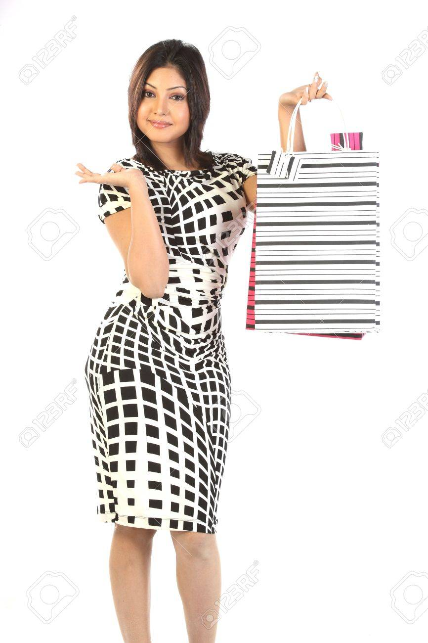 Beautiful woman with shopping bags Stock Photo - 6555918