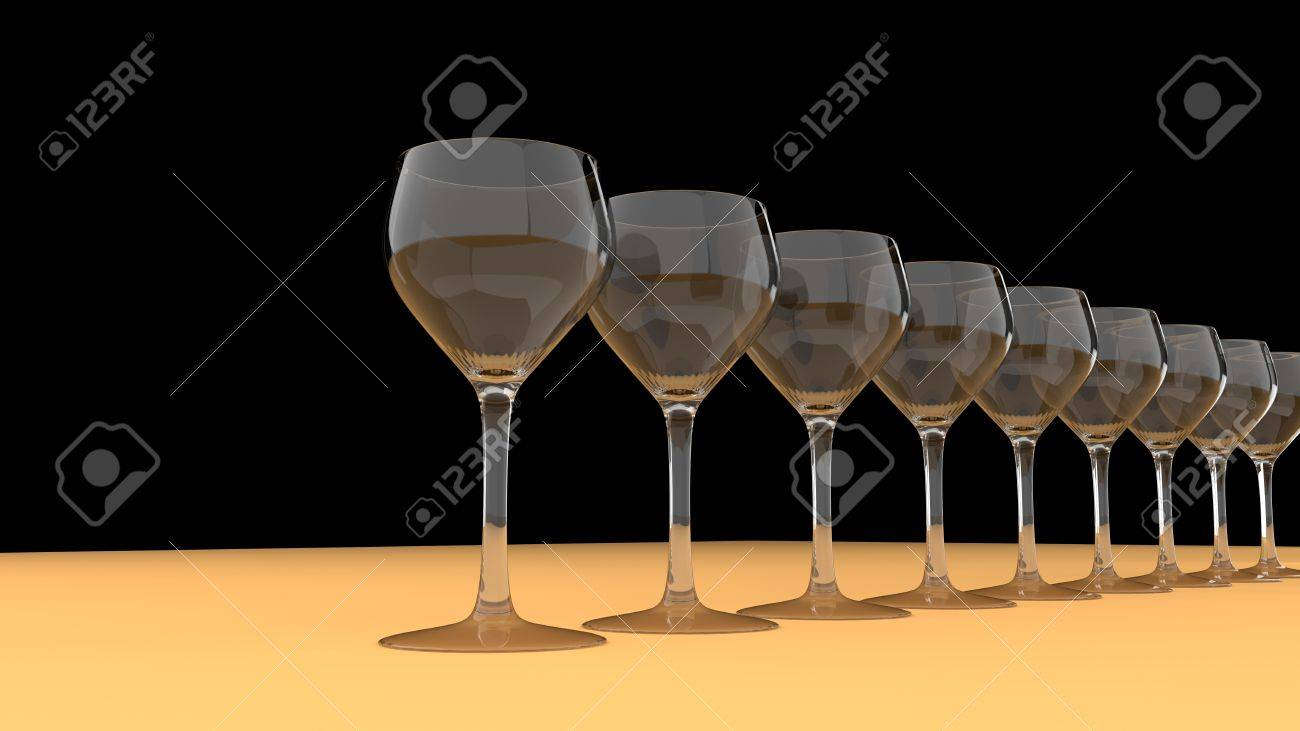 Glasses in a row Stock Photo - 15649148