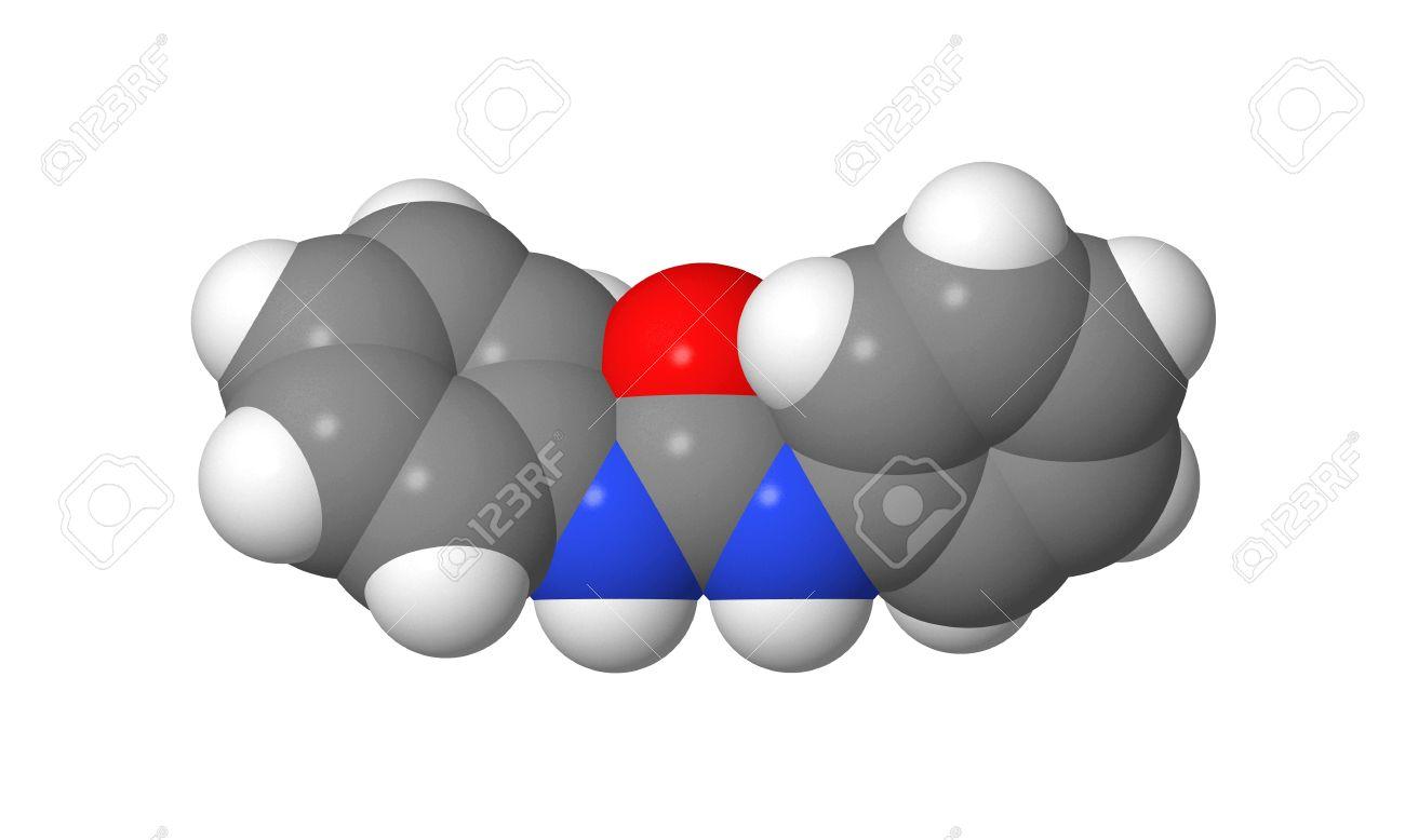 Plant hormone - Cytokinins - Diphenylurea - spacefill model Stock Photo - 17613507