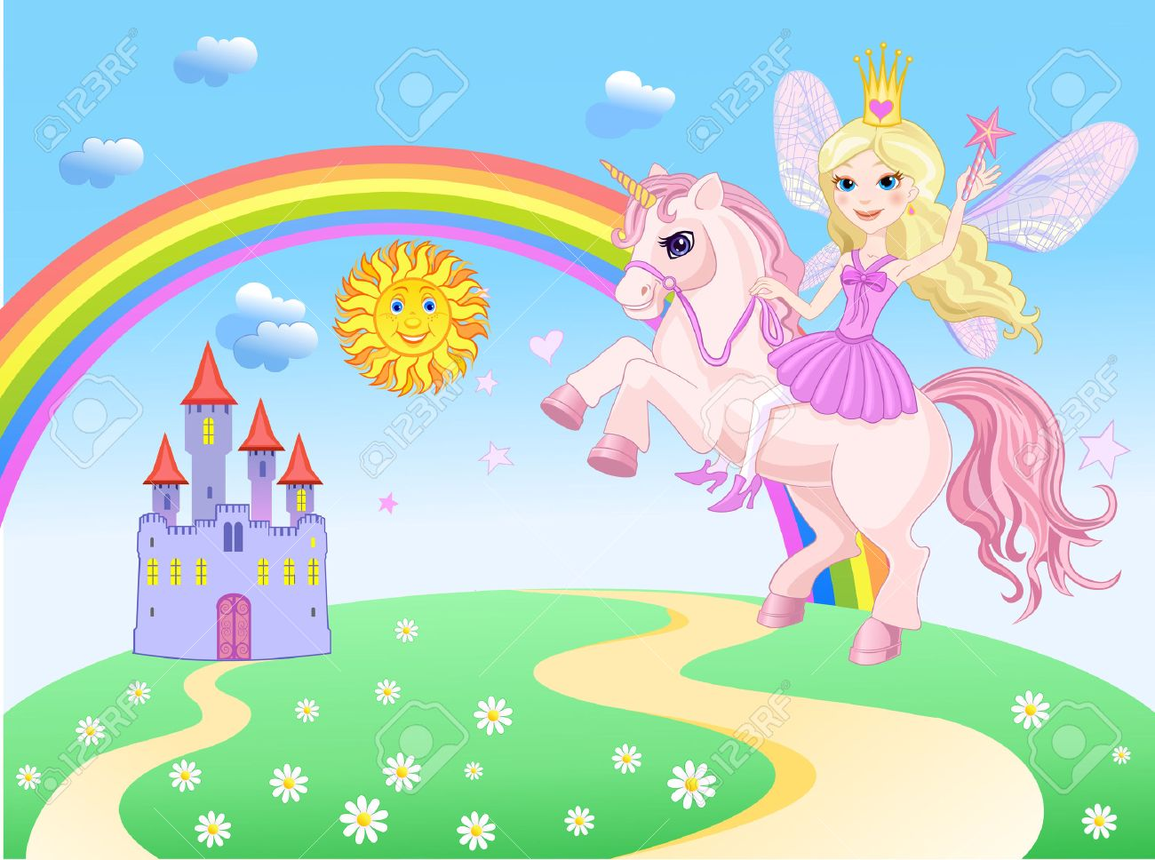 [Image: 31975282-Castle-and-Rainbow-Little-Fairy...Vector.jpg]