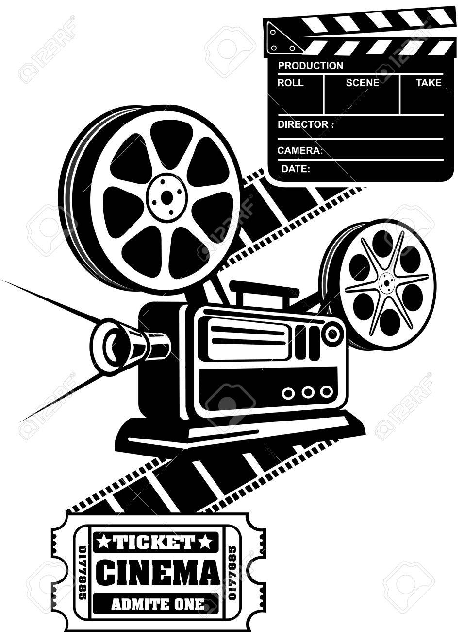 Film reels and clapper board cinema ticket royalty free cliparts film reels and clapper board cinema ticket stock vector 49651036 thecheapjerseys Choice Image