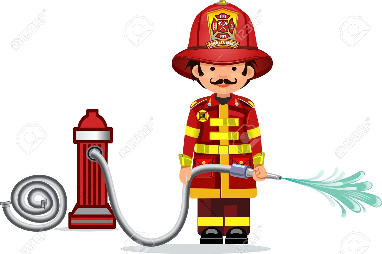 illustration of a firefighter - 49841604