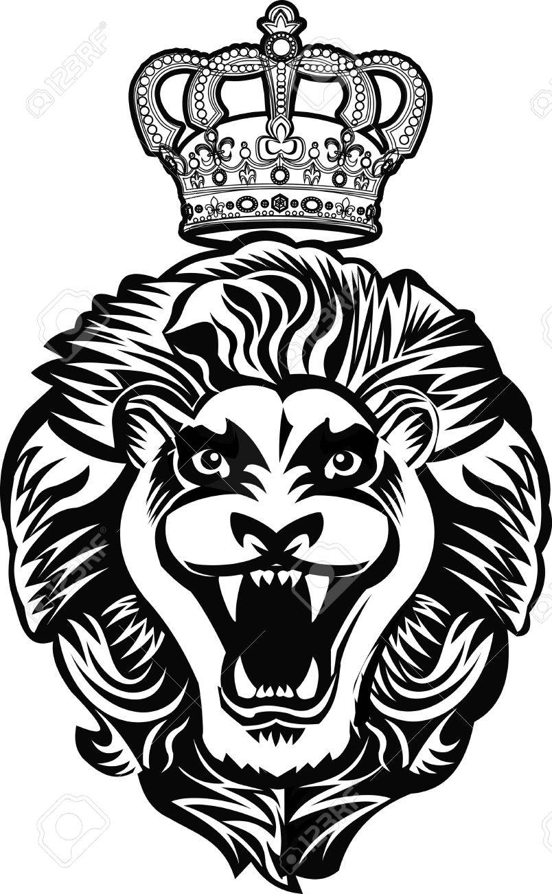 King Lion Tattoo Royalty Free Cliparts Vectors And Stock
