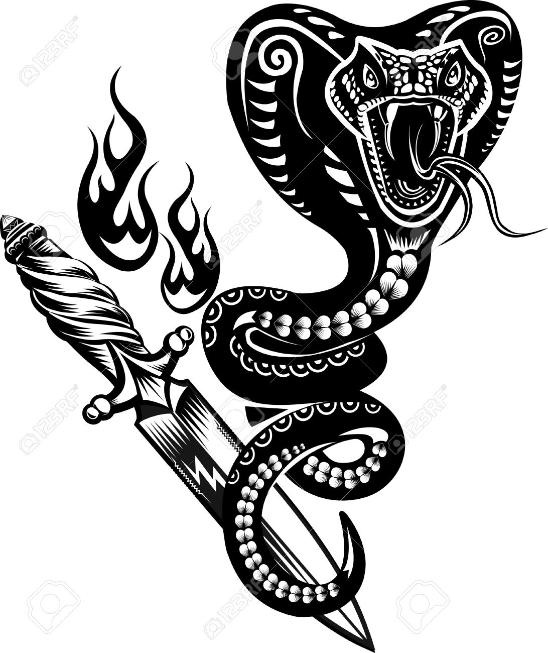Snake Tattoo Cobra - 50058214
