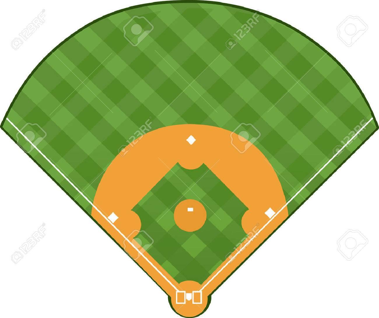 baseball field royalty free cliparts vectors and stock rh 123rf com baseball field vector image baseball field diagram vector