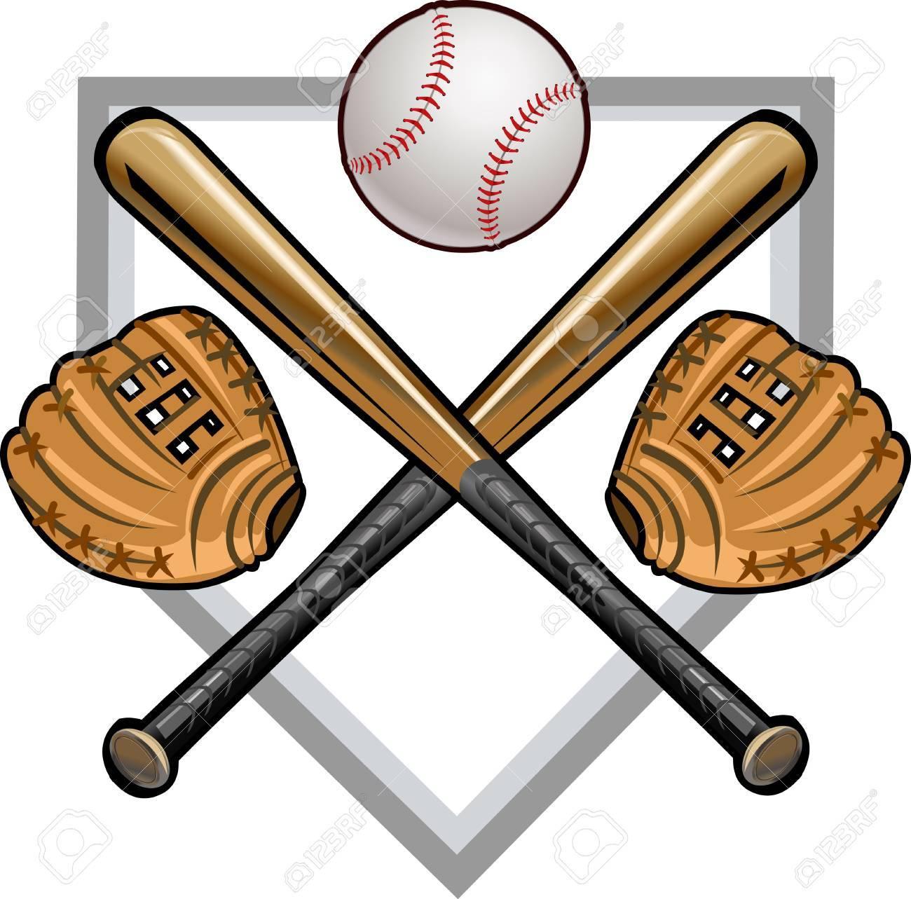 baseball label mitt ball bat royalty free cliparts vectors and rh 123rf com Baseball Bat Vector Silhouette Baseball Bat Clip Art