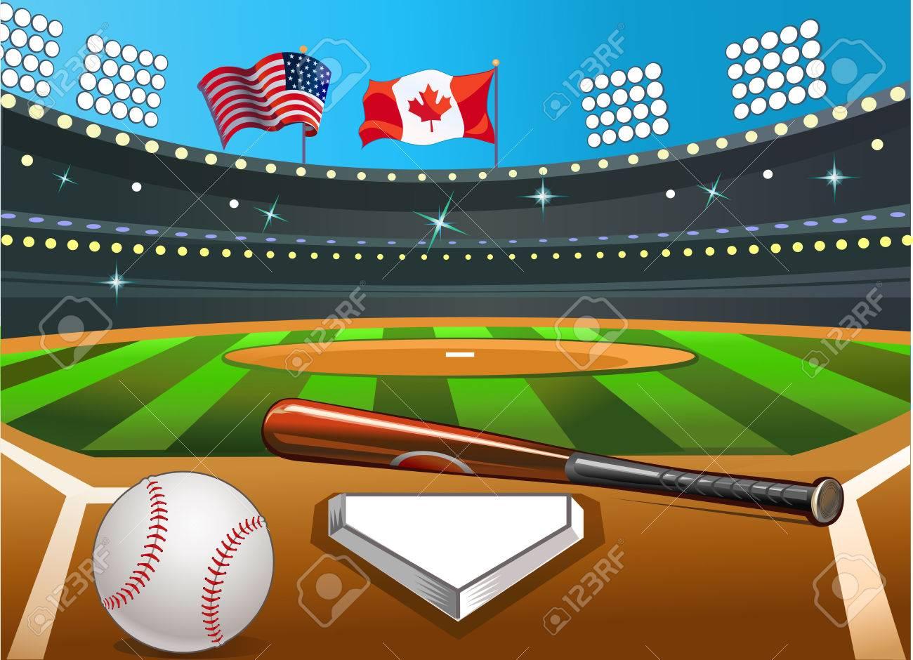 baseball stadium royalty free cliparts vectors and stock rh 123rf com baseball stadium lights clipart baseball field clipart