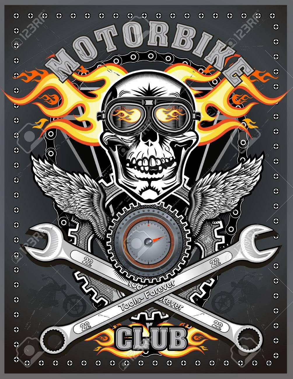 vintage motorcycle club. vector draving - 51083584