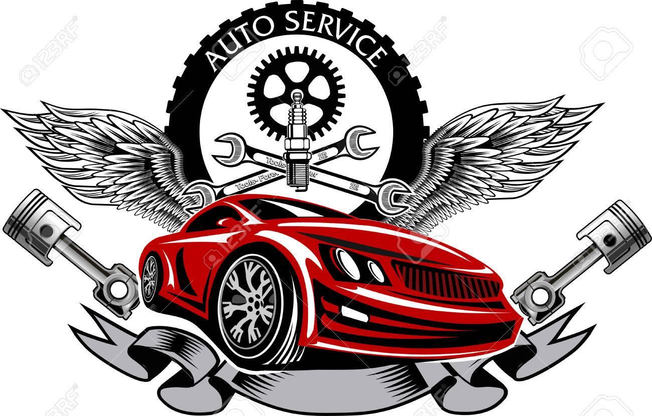 Repair service emblem - 55665117