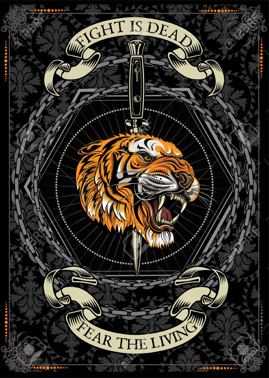 5665a29a6 Tigers Face. Tiger Tattoo Royalty Free Cliparts, Vectors, And Stock ...