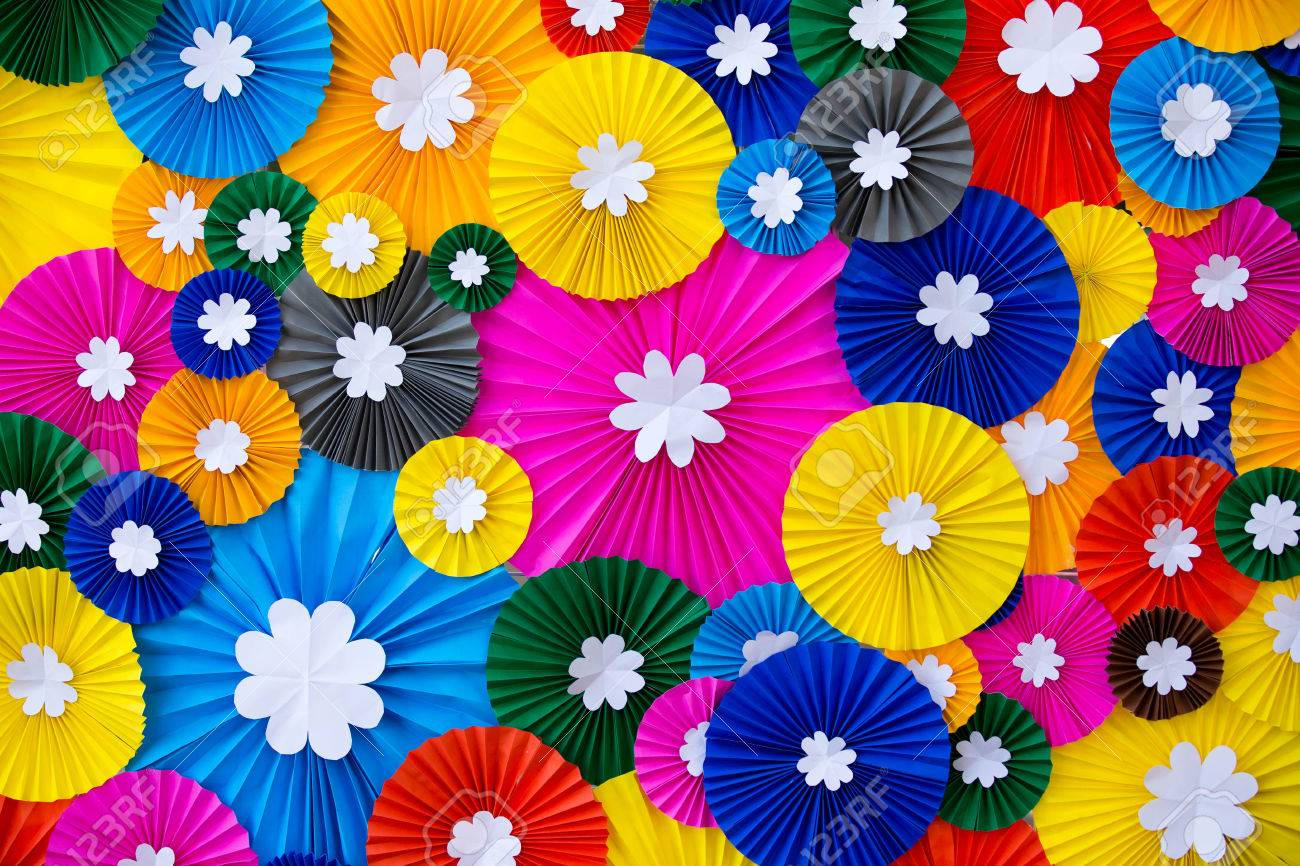 Colorful paper flowers wall background stock photo picture and colorful paper flowers wall background stock photo 35567520 mightylinksfo