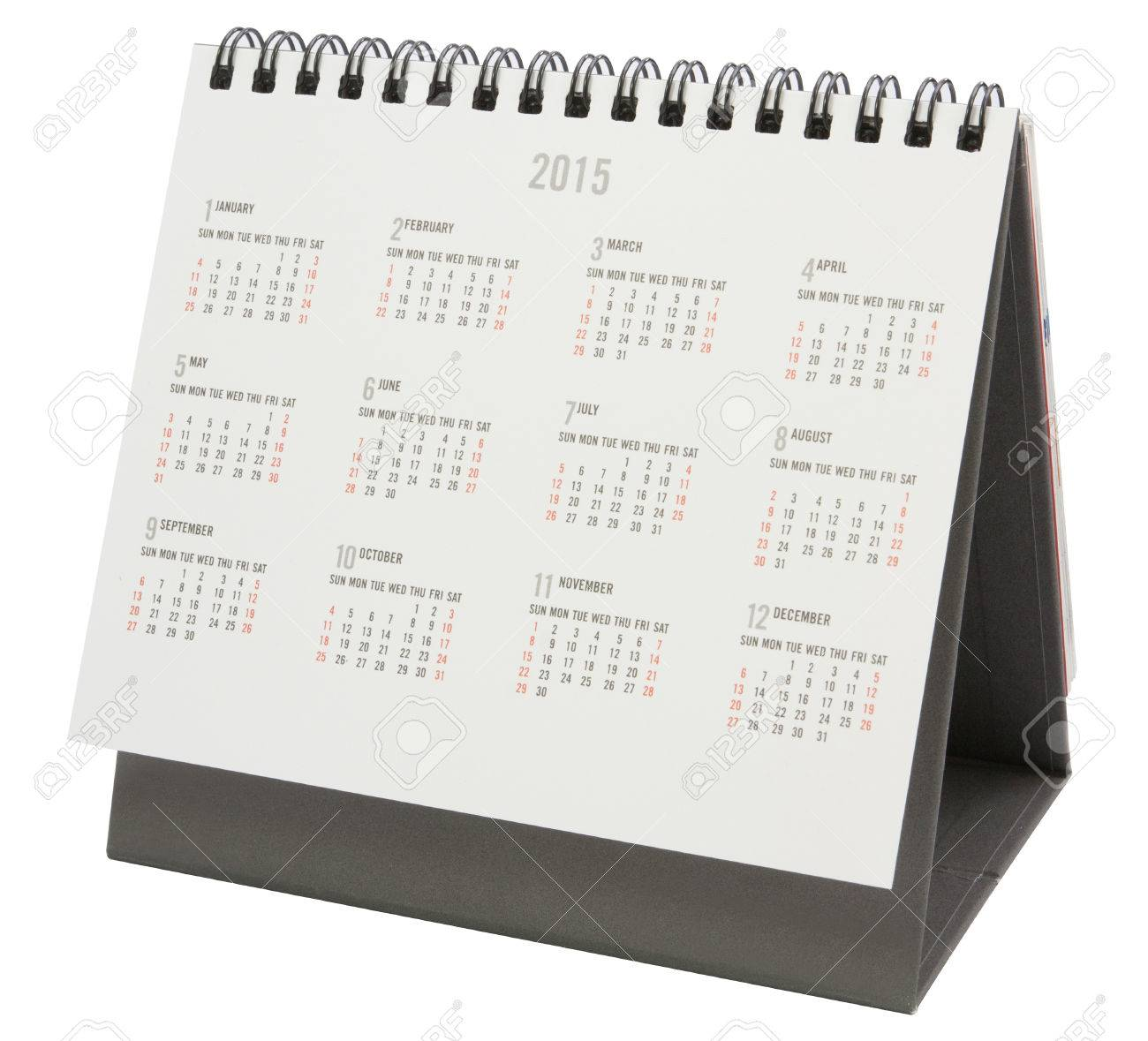desk calendar 2015 isolated on white file includes a excellent rh 123rf com desk calendar 2018 nfl desk calendar 2018 2019