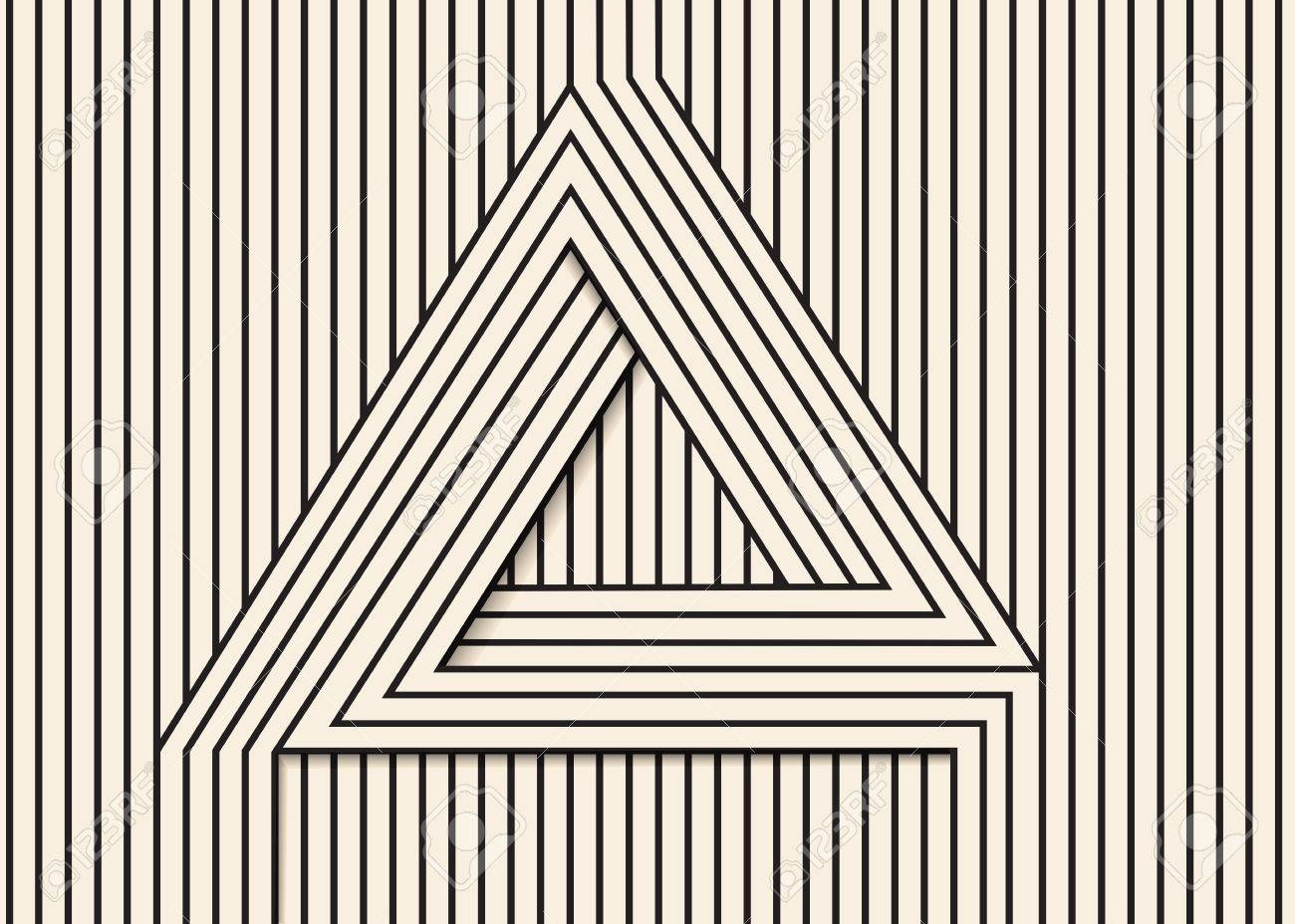 Abstract Background Made In Vector Optical Illusion Triangle Black