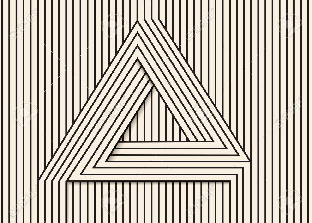 Resumen De Antecedentes De Hecho En Vector. Triangle.Black óptica ...