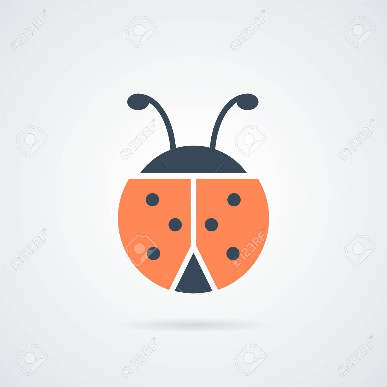 Coccinelle Symbole illustration vectorielle de coccinelle icône. icône de coccinelle