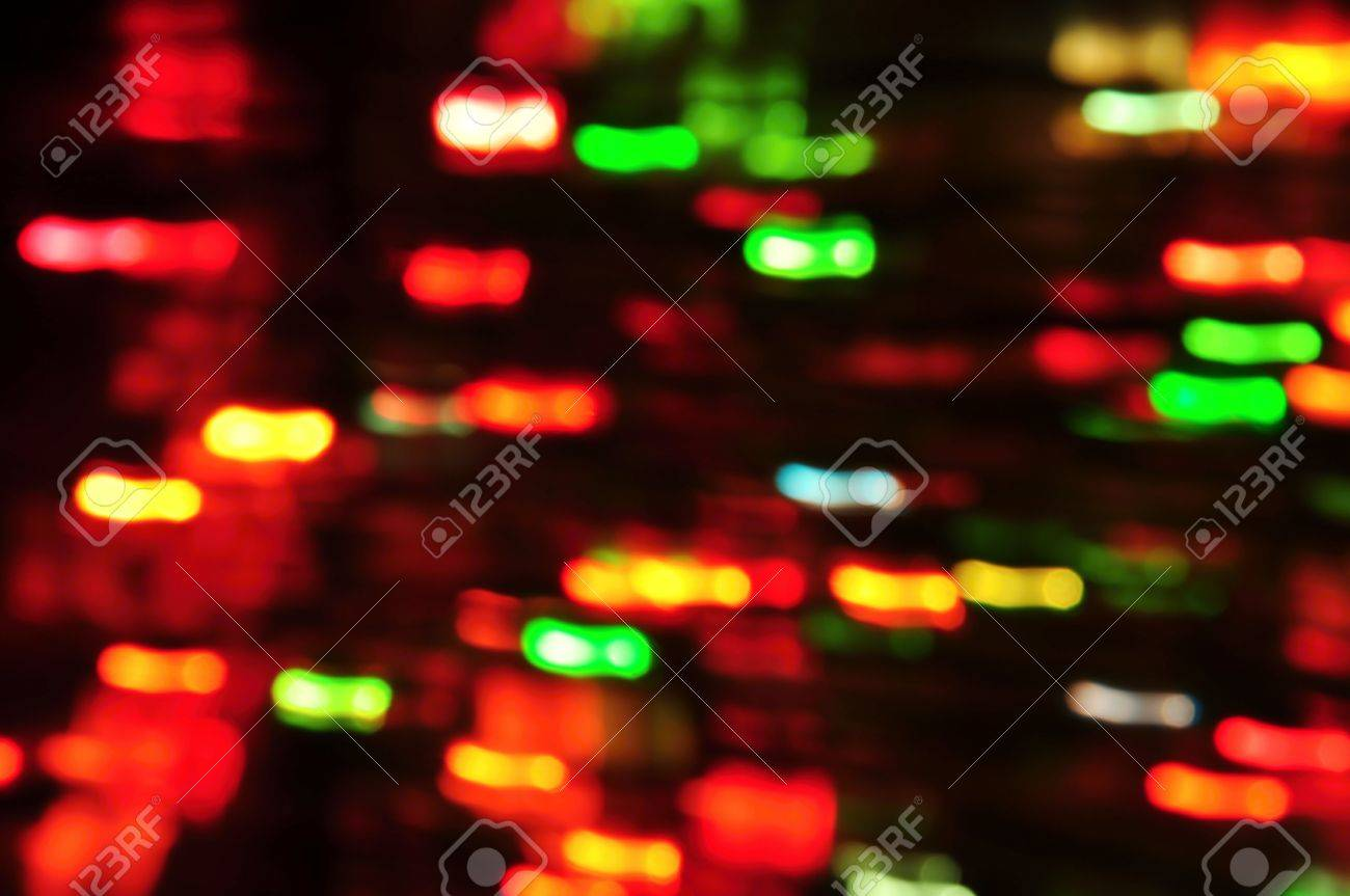 Colorful background with many small colored flashing lights Stock Photo - 14985709