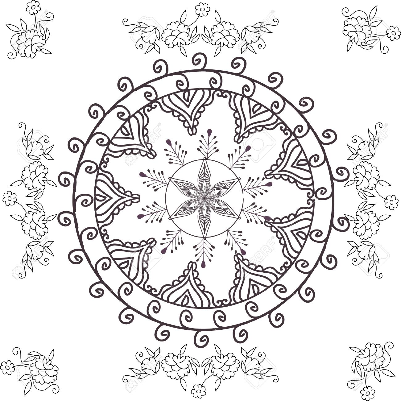 beautiful hand drawn vector pattern design good for textile, jewellary, henna and decorations. to see more patterns and floral designs. visit my portfolio. Stock Photo - 4552632