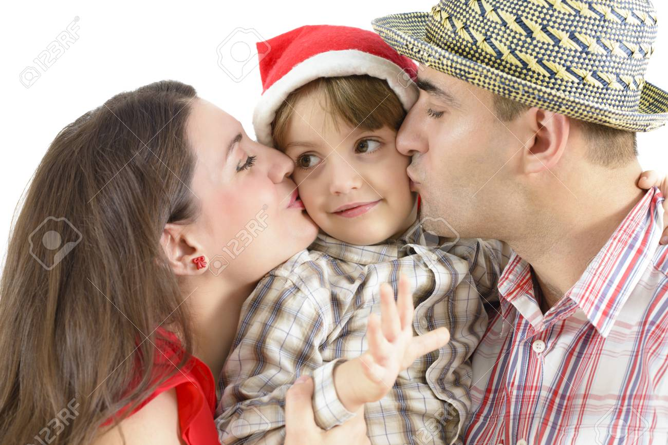 Mom and dad kissing their little boy stock photo picture and mom and dad kissing their little boy stock photo 35283936 thecheapjerseys Gallery