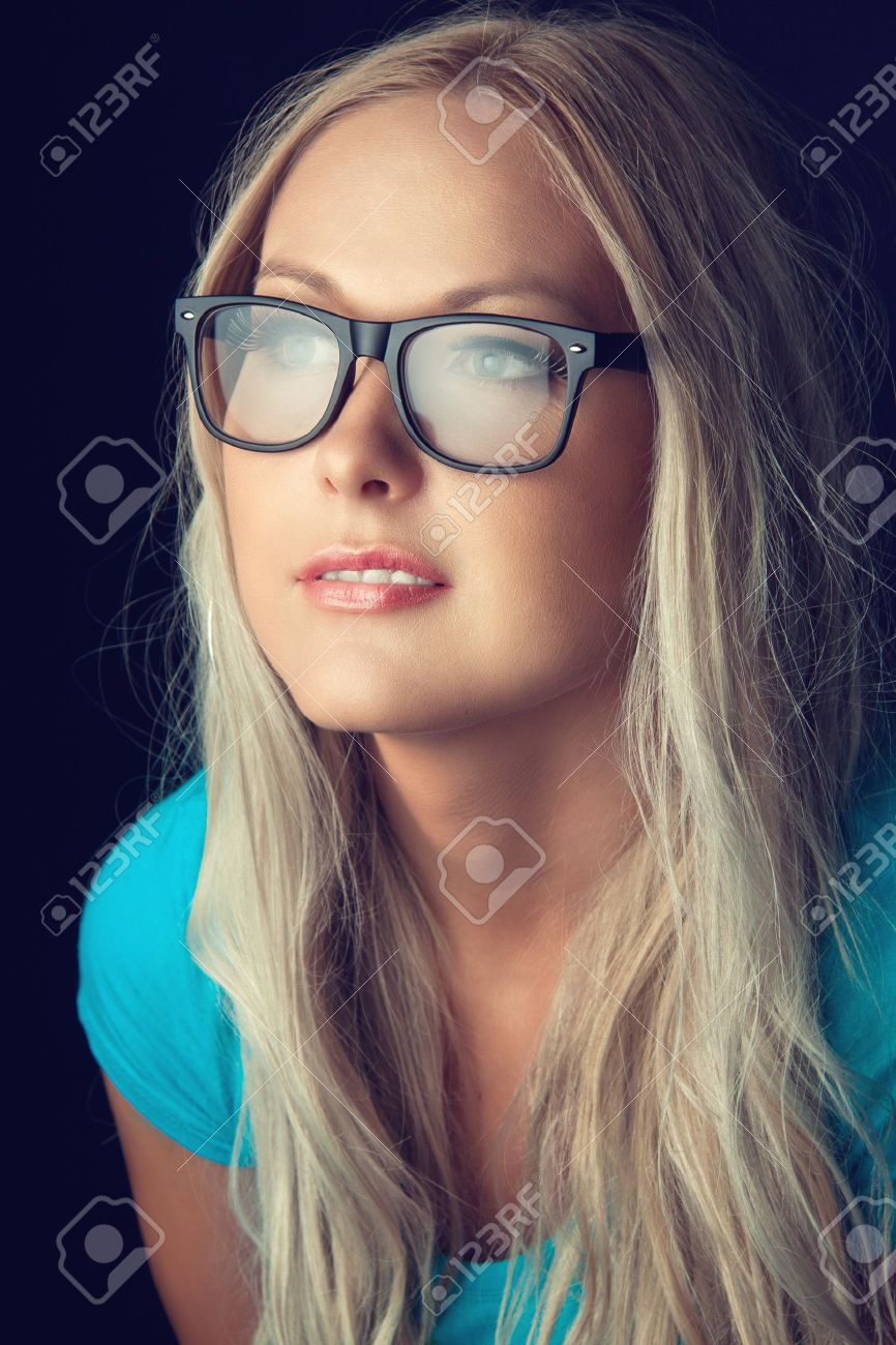 Blonde Girl With Glasses