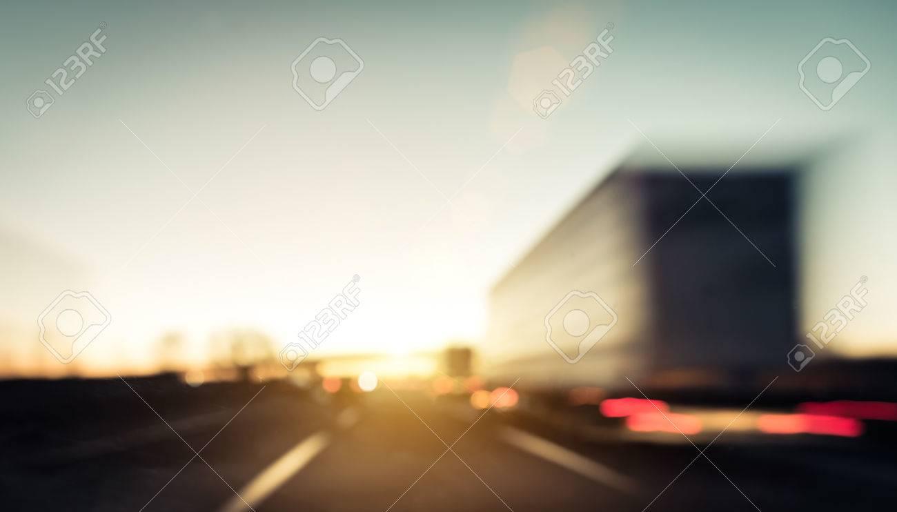 traffic jam on the highway Stock Photo - 38716876