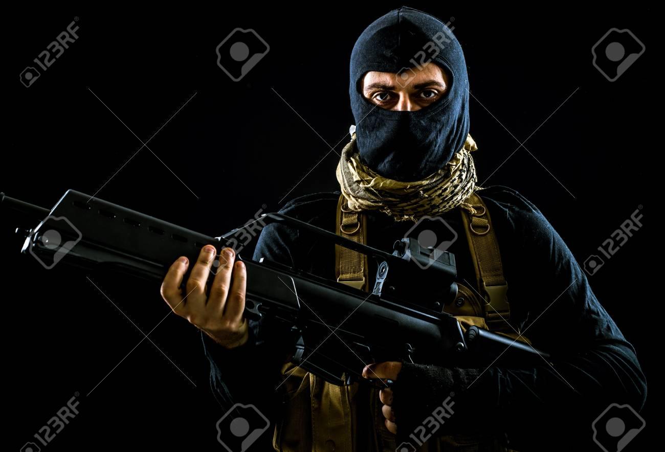 Terrorist criminal portrait - 81292702