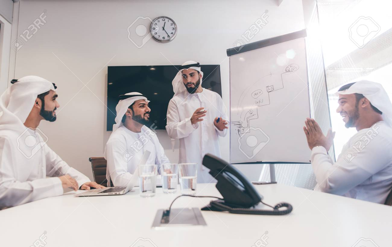 Arabic business team in the office - 103459296
