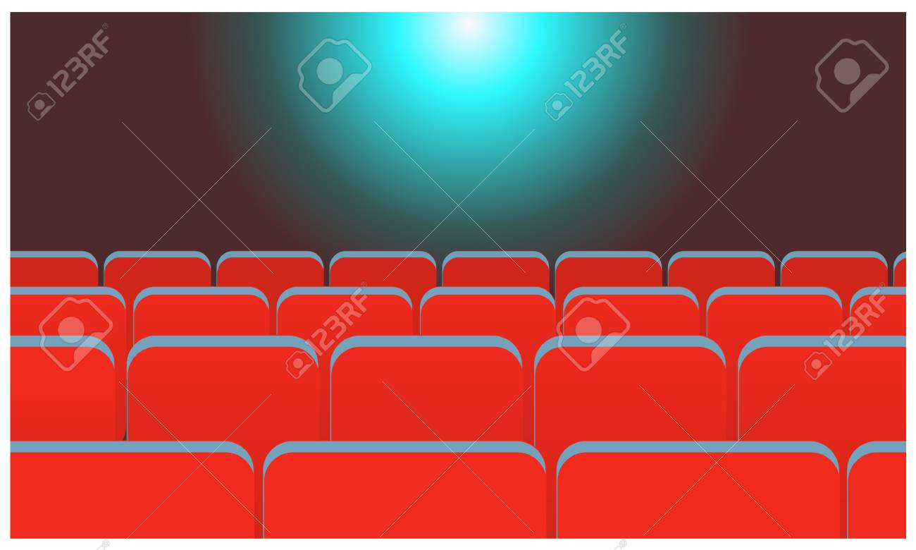 Cartoon Cinema Concept Red Cinema Or Theater Seats Rows Flat Royalty Free Cliparts Vectors And Stock Illustration Image 119415208
