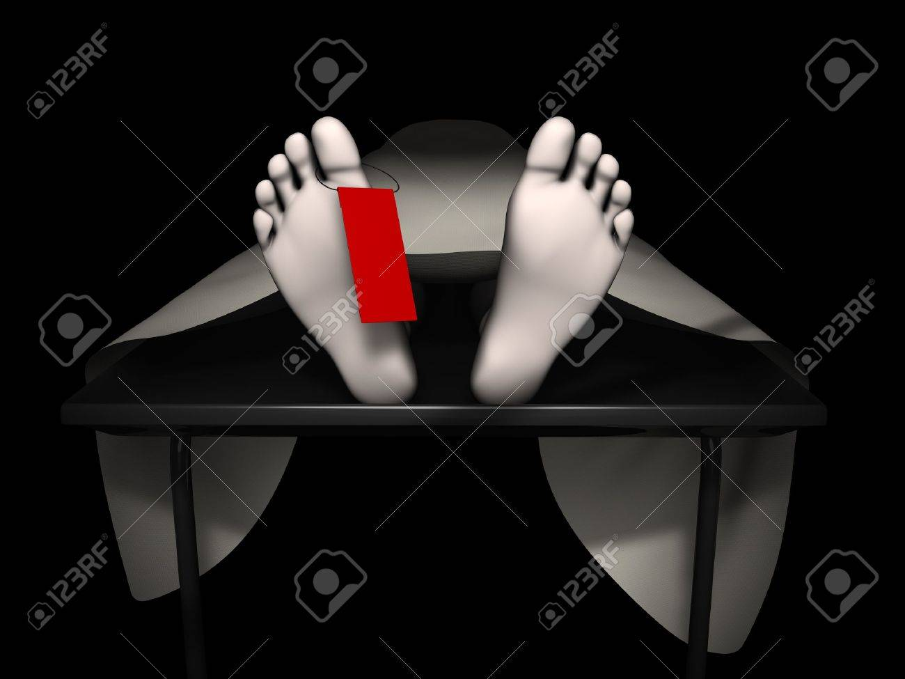3d rendering human corpse, isolated on black background Stock Photo - 8266498