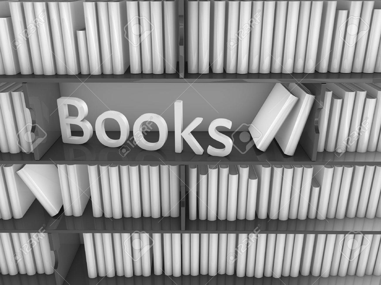 3d image huge library book rack, isolated on white background. Stock Photo - 8668344
